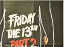 FRIDAY THE 13TH PART 2 (Top Right) Cinema Quad Movie Poster