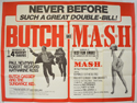 BUTCH CASSIDY AND THE SUNDANCE KID / M.A.S.H. Cinema Quad Movie Poster