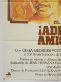 ADIOS AMIGO (Bottom Left) Cinema Spanish Movie Poster