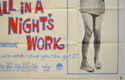 ALL IN A NIGHT'S WORK (Bottom Right) Cinema Quad Movie Poster