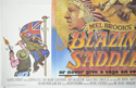 BLAZING SADDLES (Bottom Left) Cinema Quad Movie Poster
