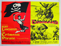 THE CRIMSON PIRATE / THE COMMAND Cinema Quad Movie Poster