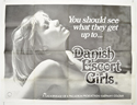 DANISH ESCORT GIRLS Cinema Quad Movie Poster