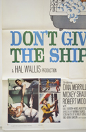 DON'T GIVE UP THE SHIP (Bottom Left) Cinema One Sheet Movie Poster