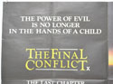 THE FINAL CONFLICT (Top Left) Cinema Quad Movie Poster