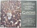 GANDHI Cinema Quad Movie Poster