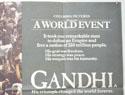 GANDHI (Top Right) Cinema Quad Movie Poster