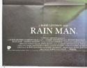 RAIN MAN (Bottom Left) Cinema Quad Movie Poster
