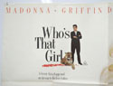 WHO'S THAT GIRL (Top Left) Cinema Quad Movie Poster