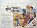 THE BLACK STALLION RETURNS Cinema Quad Movie Poster