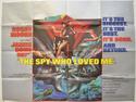 007 : THE SPY WHO LOVED ME Cinema Quad Movie Poster