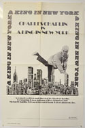 A KING IN NEW YORK Cinema One Sheet Movie Poster