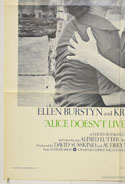 ALICE DOESN'T LIVE HERE ANYMORE (Bottom Left) Cinema One Sheet Movie Poster