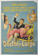 DOCTOR AT LARGE Cinema One Sheet Movie Poster