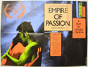 EMPIRE OF PASSION Cinema Quad Movie Poster