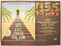 EVIL UNDER THE SUN Cinema Quad Movie Poster