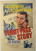 FRONT PAGE STORY Cinema One Sheet Movie Poster