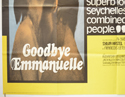 GOODBYE EMMANUELLE (Bottom Left) Cinema Quad Movie Poster