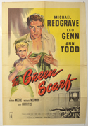 THE GREEN SCARF Cinema One Sheet Movie Poster