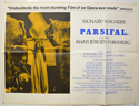 PARSIFAL Cinema Quad Movie Poster