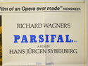 PARSIFAL (Top Right) Cinema Quad Movie Poster