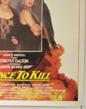 007 : LICENCE TO KILL (Bottom Right) Cinema One Sheet Movie Poster