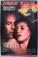 Color Of Night <p><i> (Original Poster For The USA Video Release) </i></p>
