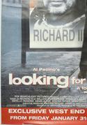 LOOKING FOR RICHARD (Bottom Left) Cinema 4 Sheet Movie Poster
