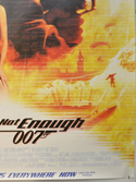 007 : THE WORLD IS NOT ENOUGH (Bottom Right) Cinema 4 Sheet Movie Poster