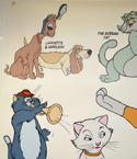 THE ARISTOCATS (Top Left) Cinema 4 Sheet Movie Poster