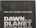 DAWN OF THE PLANET OF THE APES (Top Right) Cinema Quad Movie Poster