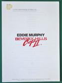 Beverly Hills Cop II -  Production Info