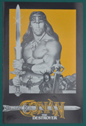 Conan The Destroyer <p><i> Original 4 Page Cinema Exhibitor's Synopsis Booklet  </i></p>