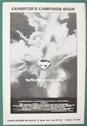 SUPERMAN – Original Cinema Exhibitors Press Book – Front