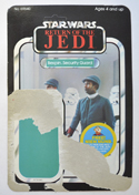 STAR WARS FIGURE – BESPIN SECURITY GUARD (CARD FRONT View)