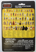 STAR WARS FIGURE – PRINCESS LEIA (BOUSHH DISGUISE) (CARD BACK View)