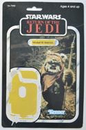 STAR WARS FIGURE –   WICKET (CARD FRONT View)