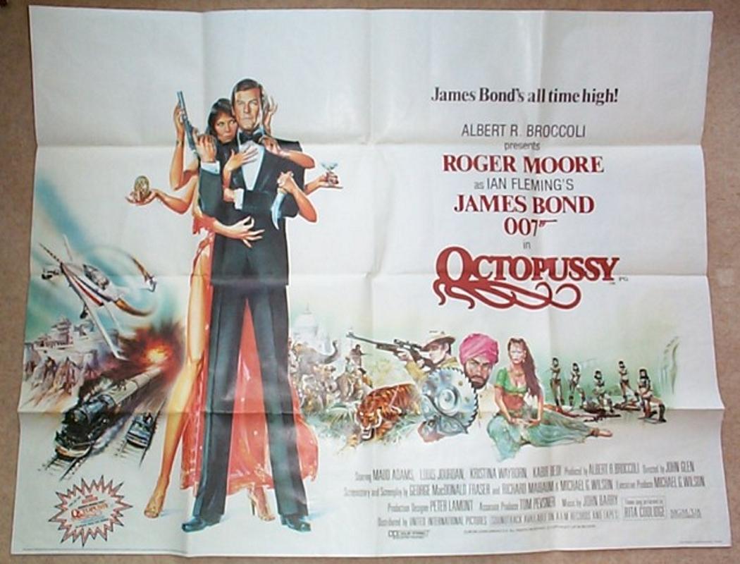 007 Octopussy James Bond Original Cinema Movie