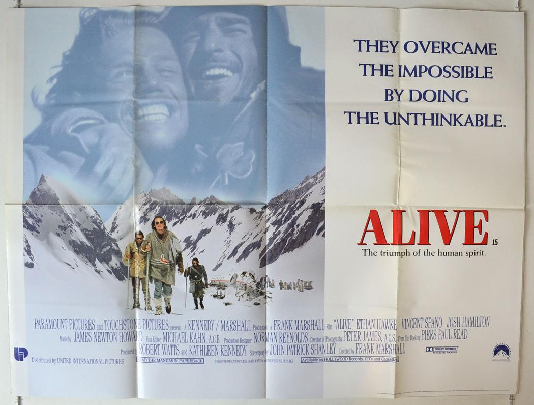 Alive - Original Cinema Movie Poster From pastposters.com British ...