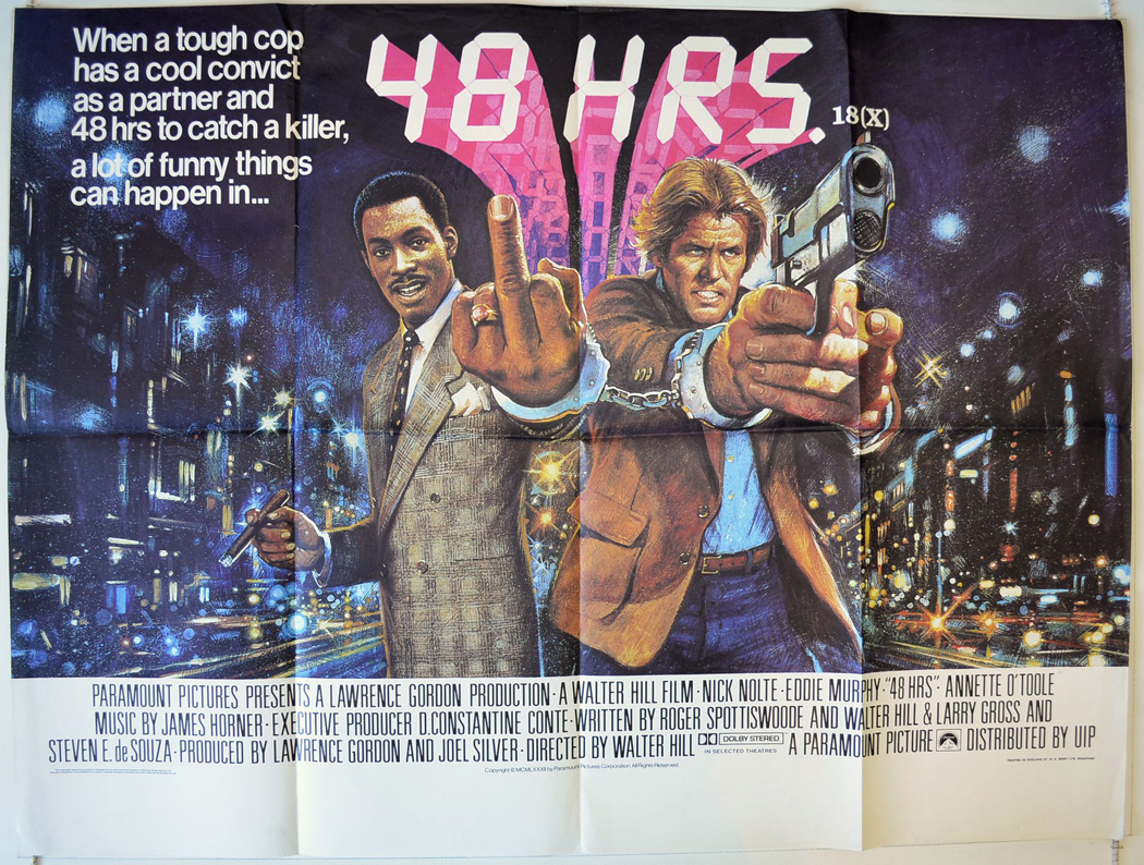 48 Hrs - Original Cinema Movie Poster From pastposters.com British ...
