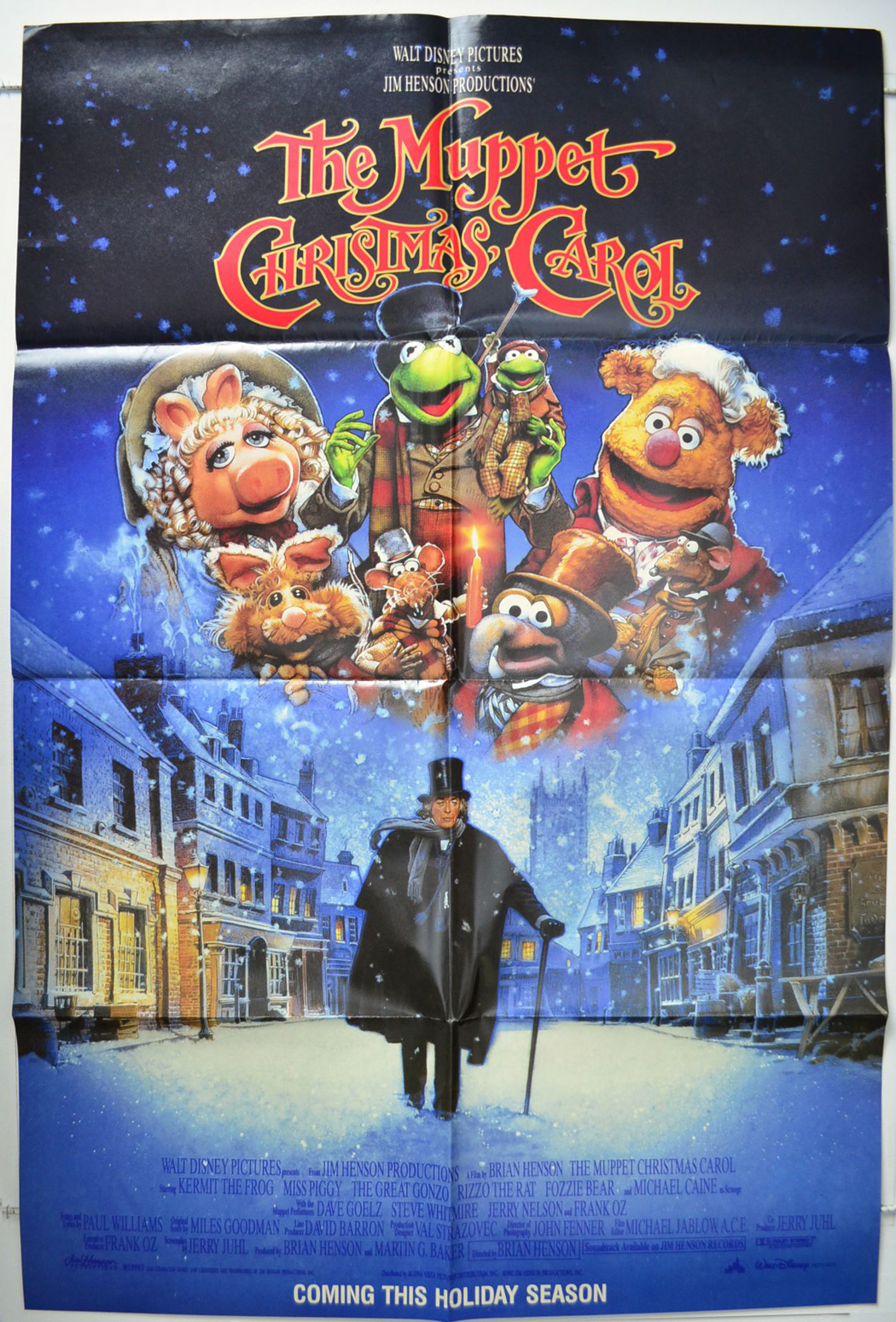 muppet christmas carol the usa subway one sheet