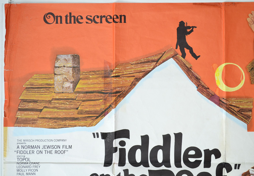 Fiddler On The Roof Original Cinema Movie Poster From