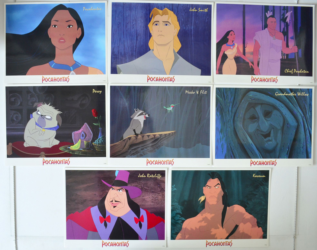 Pocahontas Characters Set Set Of 8 Usa Lobby Cards