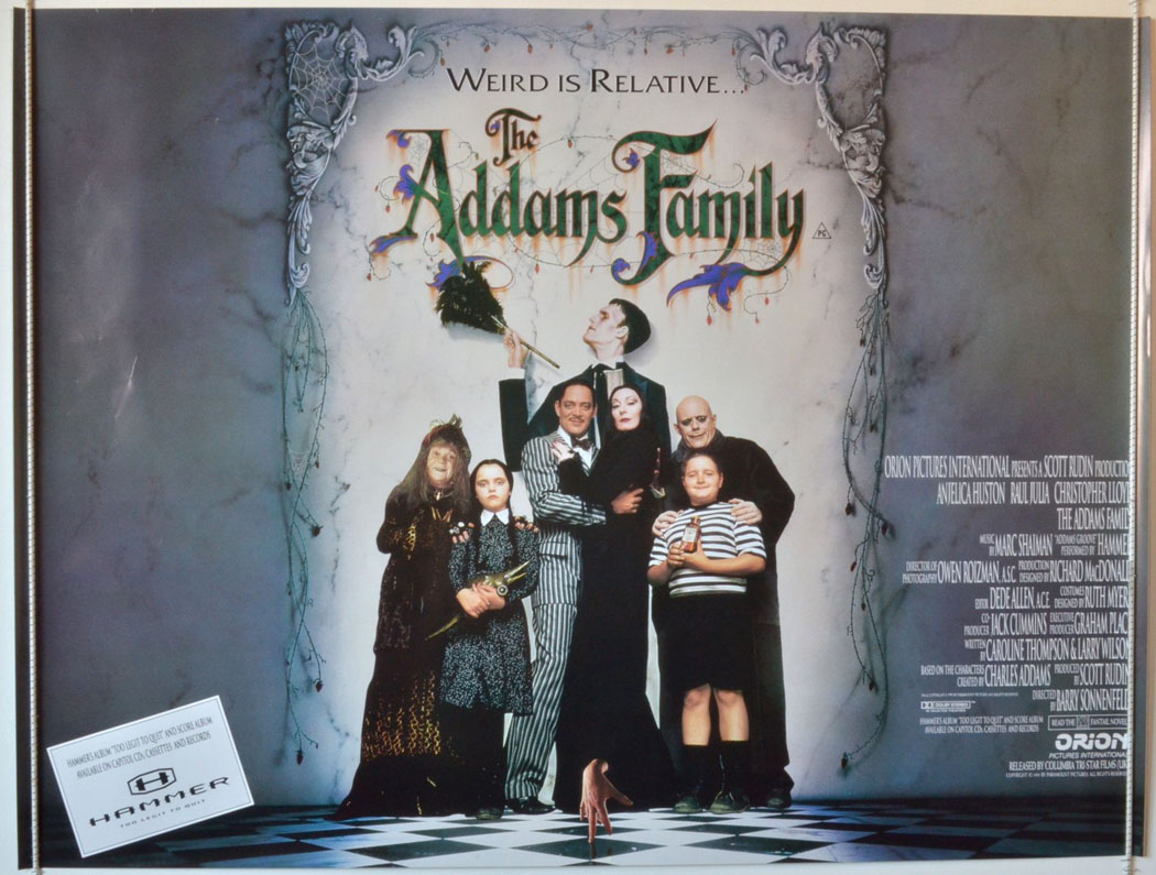 Addams Family (The) - Original Cinema Movie Poster From ...