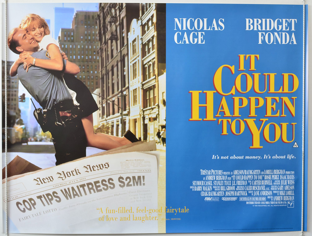 Image result for it could happen to you 1994 poster
