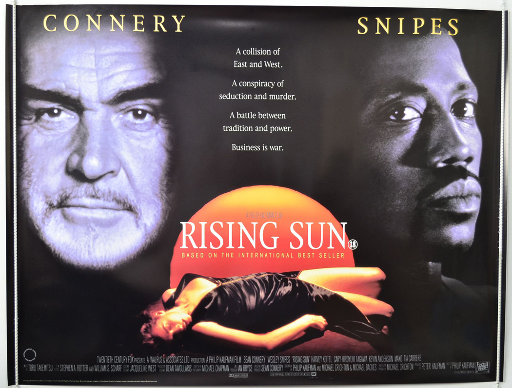 Rising Sun Original Cinema Movie Poster From Pastposters