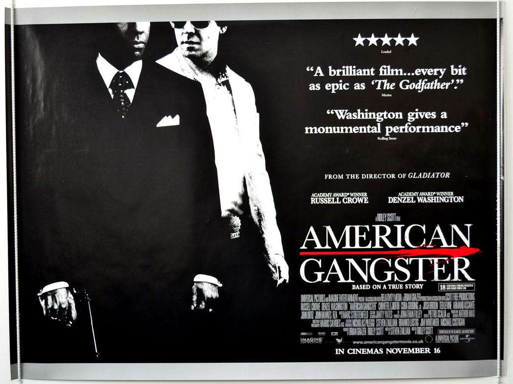 American Gangster - Original Cinema Movie Poster From pastposters ...