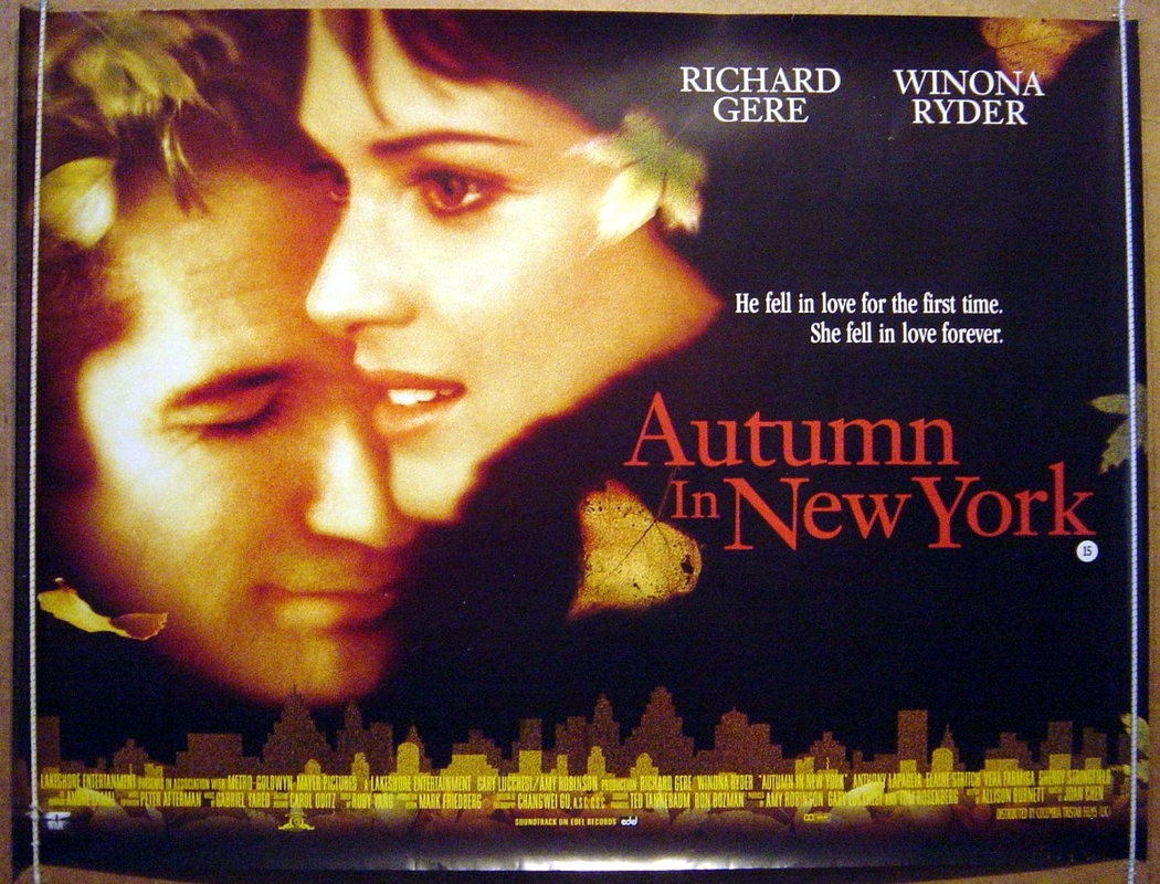 autumn in new york original cinema movie poster from british quad posters and. Black Bedroom Furniture Sets. Home Design Ideas