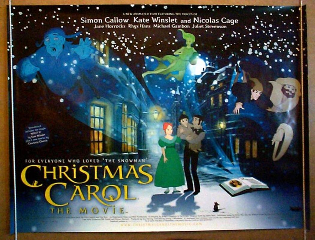 christmas carol the movie original cinema movie poster