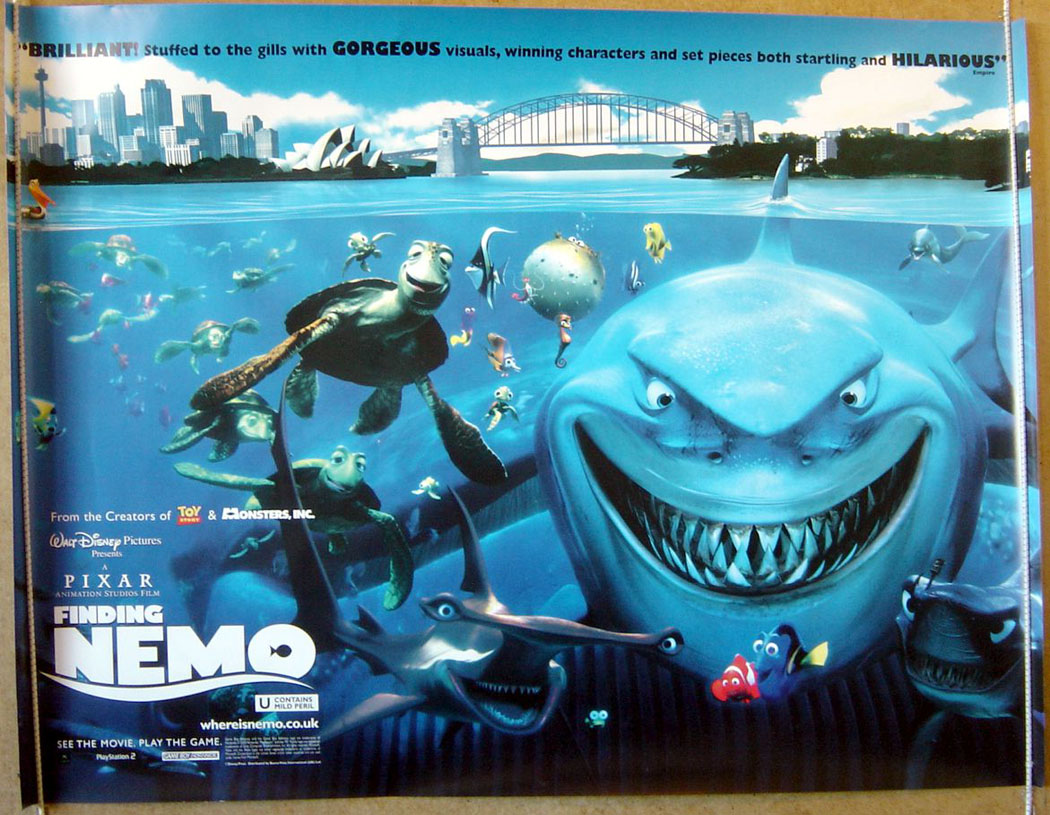 Finding nemo original cinema movie poster from pastposters this title is listed under the following categories uk quad posters animated posters altavistaventures Gallery